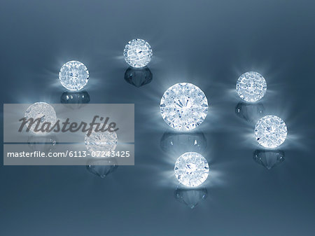 Close up of diamonds Stock Photo - Premium Royalty-Free, Image code: 6113-07243425