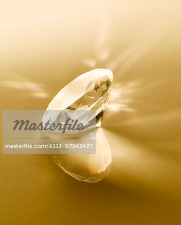 Close up of diamond Stock Photo - Premium Royalty-Free, Image code: 6113-07243427