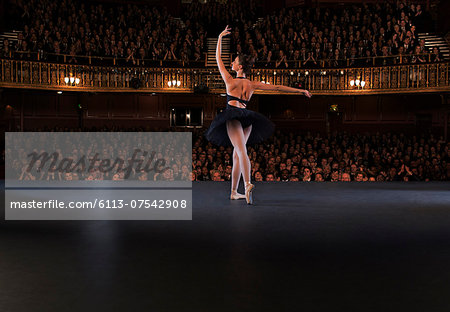 Ballet dancer performing on theater stage Stock Photo - Premium Royalty-Free, Image code: 6113-07542908