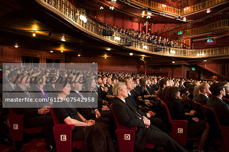 Audience watching performance in theater Stock Photo - Premium Royalty-Free, Image code: 6113-07542958