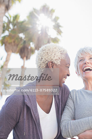 Senior women laughing Stock Photo - Premium Royalty-Free, Image code: 6113-07589322