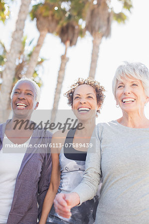 Senior women power walking outdoors Stock Photo - Premium Royalty-Free, Image code: 6113-07589439
