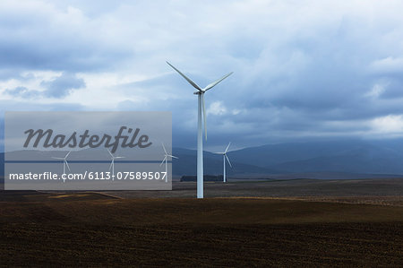 Wind farm in valley, Andaluc'a, Spain