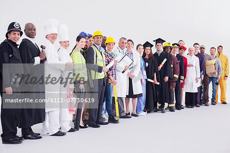 Portrait of diverse workers Stock Photo - Premium Royalty-Free, Image code: 6113-07730619