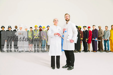 Portrait of diverse workers Stock Photo - Premium Royalty-Free, Image code: 6113-07730620