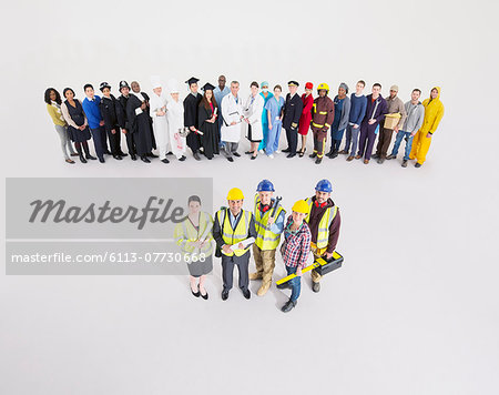 Workforce behind construction workers Stock Photo - Premium Royalty-Free, Image code: 6113-07730668