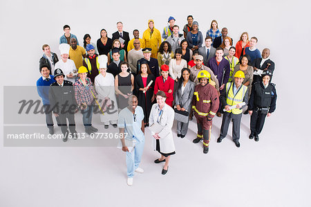 Portrait of confident workforce Stock Photo - Premium Royalty-Free, Image code: 6113-07730687