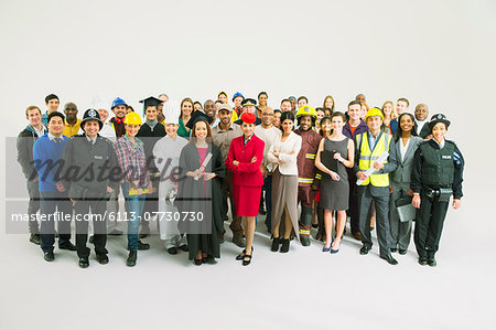 Portrait of confident workforce Stock Photo - Premium Royalty-Free, Image code: 6113-07730730
