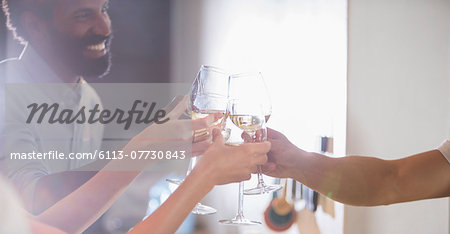 Friends toasting each other at party Stock Photo - Premium Royalty-Free, Image code: 6113-07730843