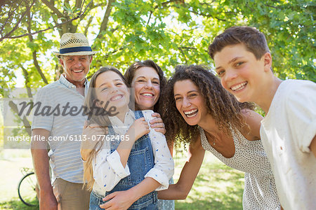 Smiling family playing together Stock Photo - Premium Royalty-Free, Image code: 6113-07762485