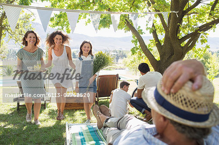 Family enjoying the outdoors together Stock Photo - Premium Royalty-Free, Image code: 6113-07762520