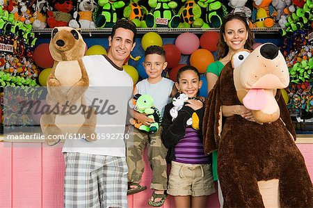 Family with toys Stock Photo - Premium Royalty-Free, Image code: 6114-06592730