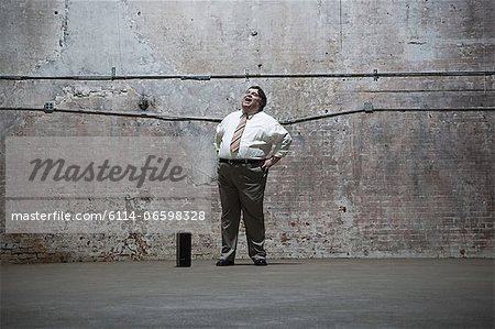 Man standing in warehouse Stock Photo - Premium Royalty-Free, Image code: 6114-06598328