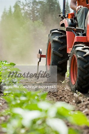 Person on tractor in field Stock Photo - Premium Royalty-Free, Image code: 6114-06599843