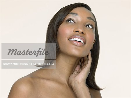 Portrait of a woman Stock Photo - Premium Royalty-Free, Image code: 6114-06604154