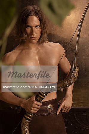 Siegfried with crossbow Stock Photo - Premium Royalty-Free, Image code: 6114-06649179