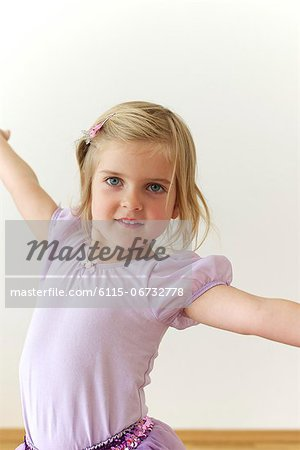Little Ballerina Stock Photo - Premium Royalty-Free, Image code: 6115-06732778
