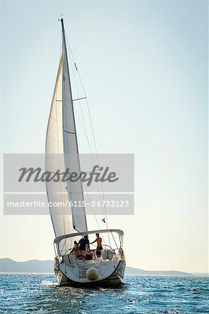Croatia, Sailboat in the Adriatic Sea Stock Photo - Premium Royalty-Free, Image code: 6115-06733123
