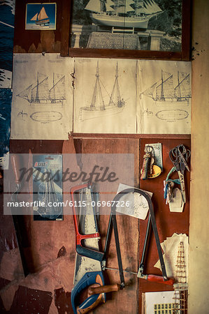 Tools In Workshop, Island Hvar, Stari Grad, Dalmatia, Croatia Stock Photo - Premium Royalty-Free, Image code: 6115-06967226