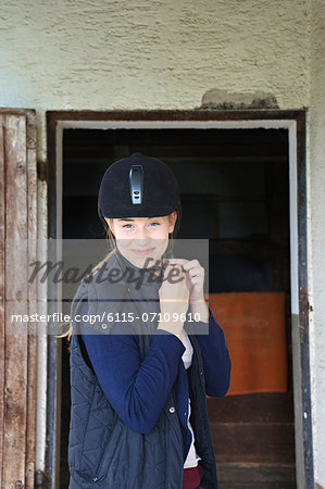 Young Woman Wearing Riding Hat, Baden Wuerttemberg, Germany, Europe Stock Photo - Premium Royalty-Free, Image code: 6115-07109610