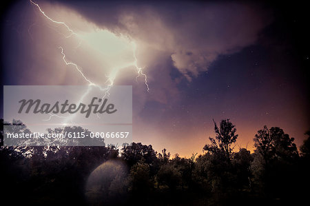 Lightning Strike, Baranja, Croatia Stock Photo - Premium Royalty-Free, Image code: 6115-08066657