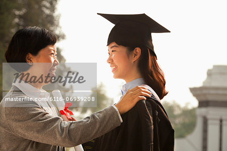 Proud Mother of a Graduate Stock Photo - Premium Royalty-Free, Image code: 6116-06939208