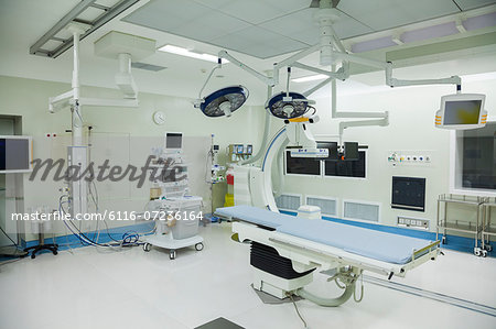 Operating room with surgical equipment, hospital, Beijing, China Stock Photo - Premium Royalty-Free, Image code: 6116-07236164