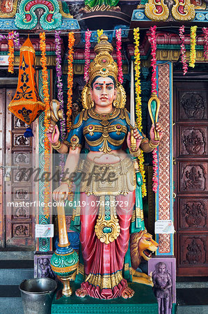 Sri Vadapathira Kaliamman Hindu Temple, Little India, Singapore, Southeast Asia, Asia Stock Photo - Premium Royalty-Free, Image code: 6119-07443729