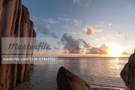 Anse Source d'Argent beach, La Digue, Seychelles, Indian Ocean, Africa Stock Photo - Premium Royalty-Free, Image code: 6119-07443752
