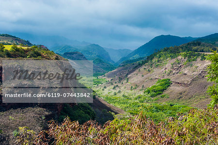 Hanapepe Valley lookout, Kauai, Hawaii, United States of America, Pacific Stock Photo - Premium Royalty-Free, Image code: 6119-07443842