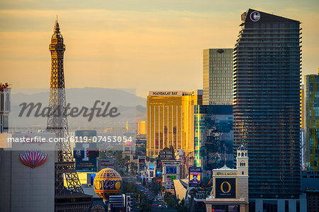 The Strip, Las Vegas, Nevada, United States of America, North America Stock Photo - Premium Royalty-Free, Image code: 6119-07453054