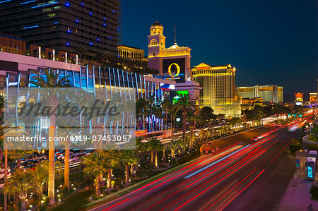 The Strip, Las Vegas, Nevada, United States of America, North America Stock Photo - Premium Royalty-Free, Image code: 6119-07453057