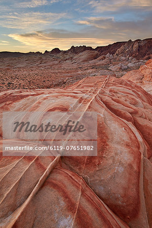 Sandstone forms at dawn, Valley of Fire State Park, Nevada, United States of America, North America Stock Photo - Premium Royalty-Free, Image code: 6119-07651982