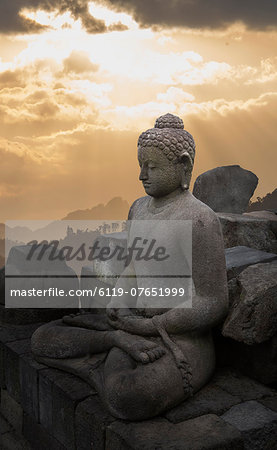 Borobudur Buddhist Temple, UNESCO World Heritage Site, Java, Indonesia, Southeast Asia, Asia Stock Photo - Premium Royalty-Free, Image code: 6119-07651999
