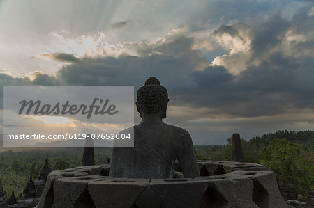 Borobudur Buddhist Temple, UNESCO World Heritage Site, Java, Indonesia, Southeast Asia, Asia Stock Photo - Premium Royalty-Free, Image code: 6119-07652004
