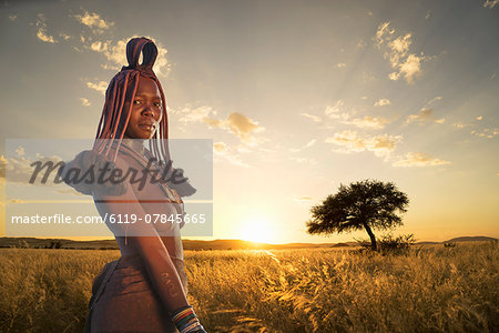 Himba woman, Kaokoland, Namibia, Africa Stock Photo - Premium Royalty-Free, Image code: 6119-07845665
