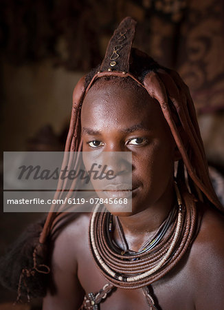 Himba people, Kaokoland, Namibia, Africa Stock Photo - Premium Royalty-Free, Image code: 6119-07845668