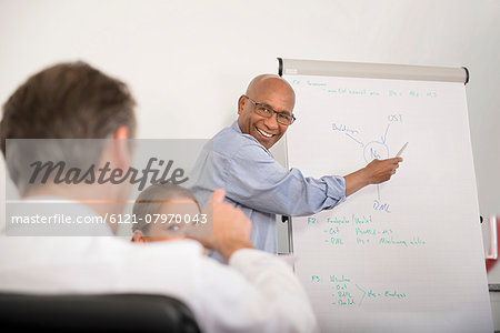 Multi-Ethnic Group men woman meeting office Stock Photo - Premium Royalty-Free, Image code: 6121-07970043