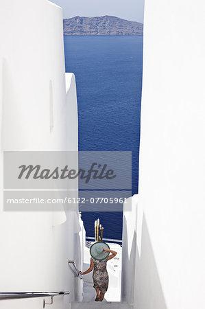 Woman admiring ocean view