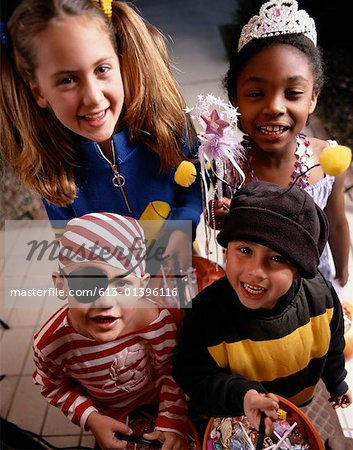 Children on Halloween Stock Photo - Premium Royalty-Free, Image code: 613-01396116