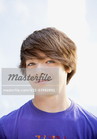 Teen boy, portrait Stock Photo - Premium Royalty-Free, Image code: 613-07492891