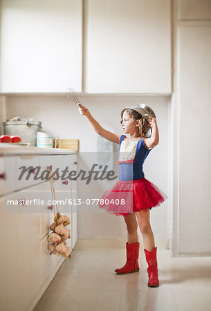 Kitchen warrior Stock Photo - Premium Royalty-Free, Image code: 613-07780408