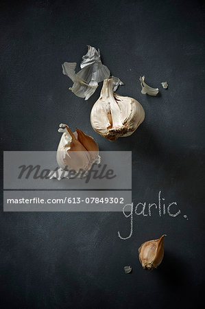 Garlic Stock Photo - Premium Royalty-Free, Image code: 613-07849302