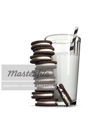 Cookies and milk Stock Photo - Premium Royalty-Free, Image code: 613-08057106