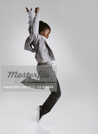 Working on his hip hop routine Stock Photo - Premium Royalty-Free, Image code: 613-08180846