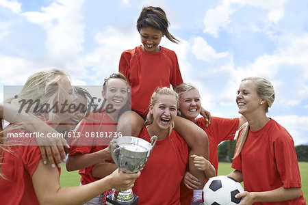 Celebrating their league win! Stock Photo - Premium Royalty-Free, Image code: 613-08181236