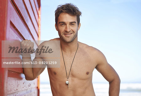 Handsome lifeguard at work Stock Photo - Premium Royalty-Free, Image code: 613-08201259