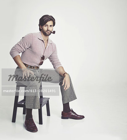 The perfect 70s man Stock Photo - Premium Royalty-Free, Image code: 613-08201491