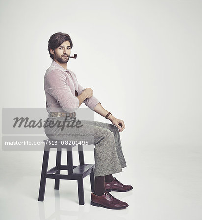 He's the perfect 70s man Stock Photo - Premium Royalty-Free, Image code: 613-08201495