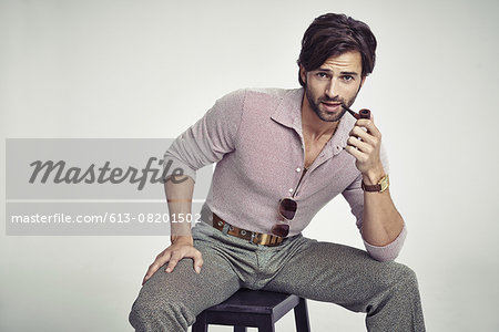 Nobody can touch his 70s style! Stock Photo - Premium Royalty-Free, Image code: 613-08201502